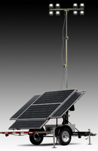 SOLAR POWERED LIGHT TOWERS