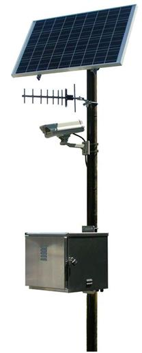 Solar Powered Pole Mount Camera Systems Millenium Products