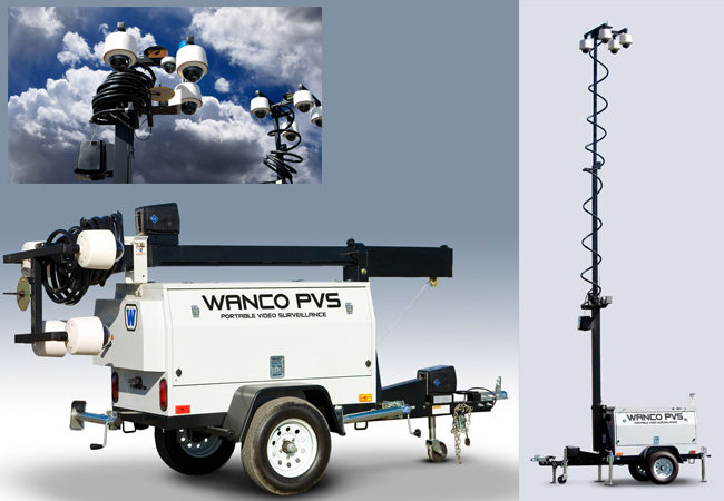 Portable Video Surveillance Trailers